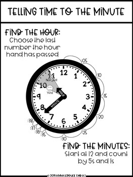 NO PREP 3rd Grade Telling Time to the Minute Worksheets