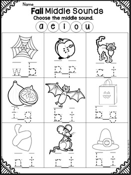 Fall NO PREP Packet- Kindergarten by Teaching is a Work of