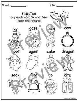 Phonological Processes Printables Bundle: Holiday Edition