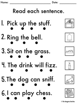 No Prep Phonics Worksheets Double Consonants Word Work {ff