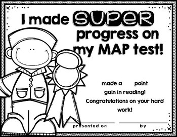 NWEA MAP Certificates and Goal Setting Sheets by Mrs