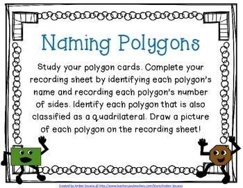 Naming Polygons Activity Freebie By Amber Socaciu