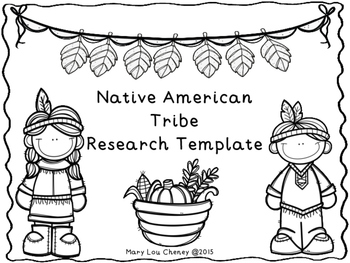 Native American Tribe Research Paper Template FREEBIE by