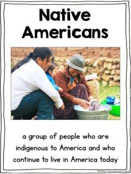 Native Americans Unit- Thanksgiving Activities for Social