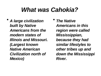 Native Americans (Mississippian Culture PowerPoint) by