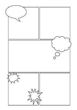 Natural Disasters Blank Comic Strip Template by 8th Grade