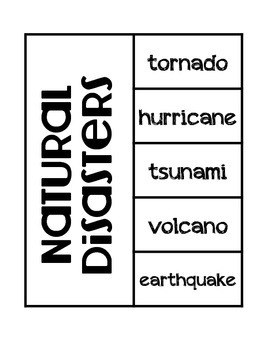Natural Disasters Science INteractive Notebook Foldable by