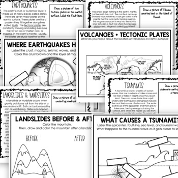 Natural Disasters {Volcanoes, Earthquakes, Tsunamis