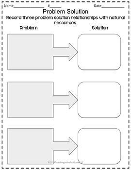 Natural Resources TicTacToe Extension Activities by