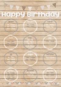 Natural Theme Birthday Chart **Editable** by Mrs ...