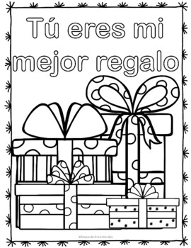 Navidad Christmas Spanish coloring pages by Tapas for Two