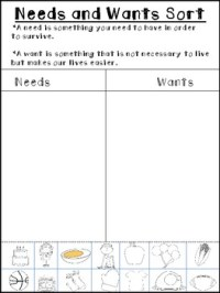 All Worksheets  Needs And Wants Worksheets - Printable ...