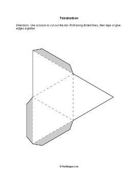 Nets: Foldable Solid Figures (3-D Shapes) by Help Teaching