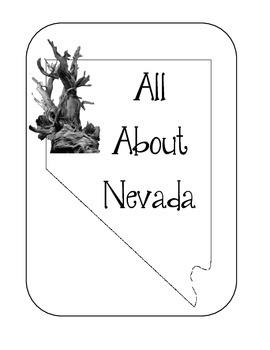 Nevada State Lapbook/Interactive Notebook. US State