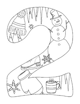 New Year 2019 Coloring Pages pdf Seasons Winter Spring
