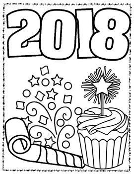 New Year's 2017 Activity Book by Keep Calm and Teach 5th