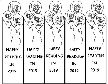 New Years 2019 Bookmarks, Free January Craft by Let's