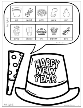 Smile & Say for New Years: NO PREP Speech Therapy Activity