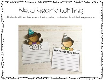 New Year's Themed Language Arts & Math Centers and