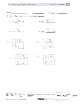 New York State Grade 5 Math Common Core Module 4 Lesson 17