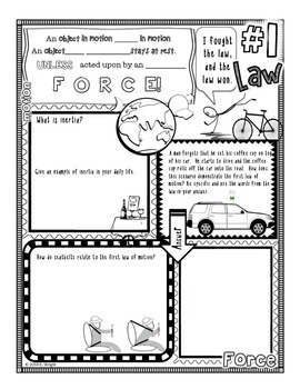 Laws Of Motion Coloring Coloring Pages