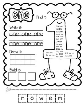 Nifty Number Words--Centers & Games for Number Word