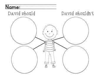 No David! Anchor Chart and Activities by Anchored in