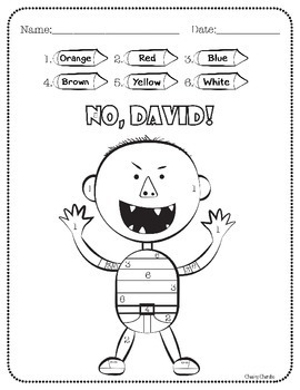 No David! Color by Number (Addition and Subtraction) by