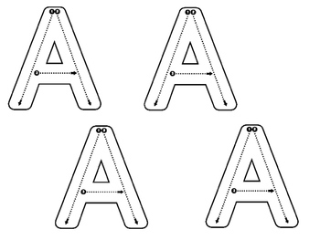 Differentiated Uppercase Alphabet Handwriting by The