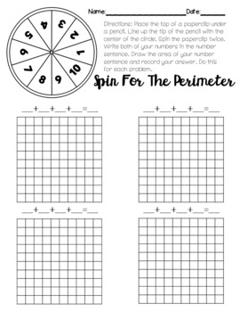 No Prep Area and Perimeter Worksheets and Games by Kelsey