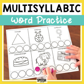 Multisyllabic Words Worksheets And Pacing Cards By The