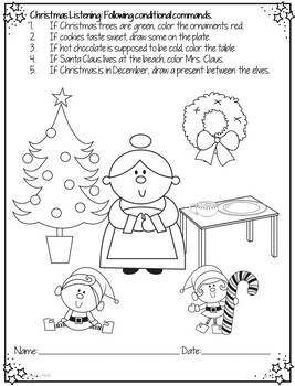 No Prep Print and Go Language Worksheets: Christmas by