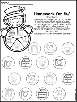 No Prep St. Patrick's Day Articulation Homework by Simply
