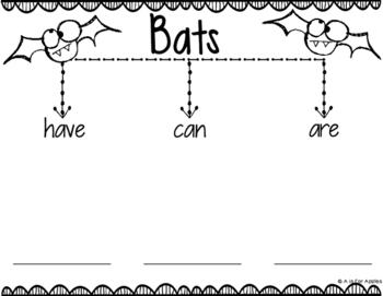 Nocturnal Animals Tree Map Graphic Organizers by A is for
