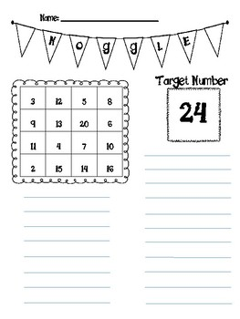 Noggle Math Game-Complete with 20 Ready Made Boards