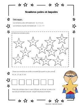 Pair Et Impair En Anglais : impair, anglais, Pair,, Impair, Worksheets, Teaching, Resources, Teachers