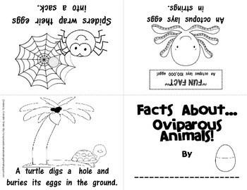 Non-Fiction Foldable Emergent Readers: Oviparous Animals
