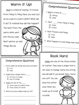 Physical Science Reading Comprehension Passages and