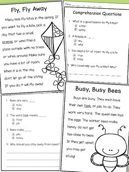 Spring Non-Fiction Reading Comprehension Passages and