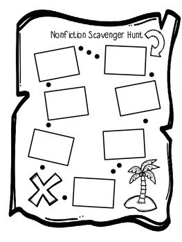 Non Fiction Text Feature Treasure Hunt Craftivity by