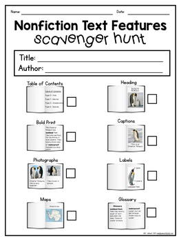 Non-fiction Text Features Freebie by The Whole Wheat Class