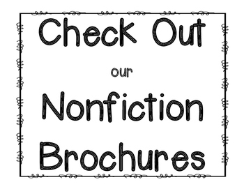 Nonfiction Brochure {Reading Response & Graphic Organizer