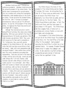 Nonfiction Text Structures Craftivity (presidential