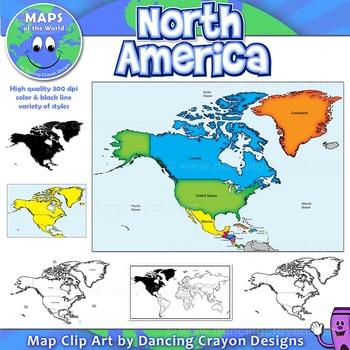 north america continent maps