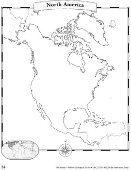North America: Maps & Forms by Evan-Moor Educational
