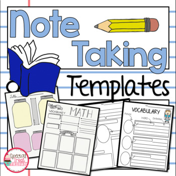 Here the note sheet is divided into two … Note Taking Templates Elementary By Special Treat Friday Tpt