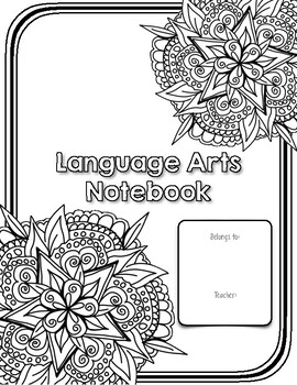Notebook Cover Page: Language Arts by Teaching Speaks