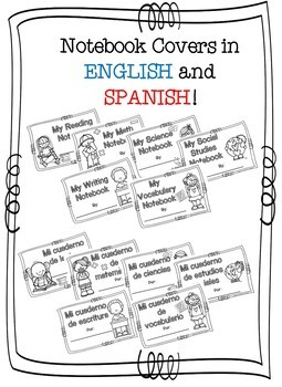 Notebook Covers in English and Spanish! by Owl about