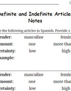 Notes on definite and indefinite articles in spanish student version also teaching resources rh teacherspayteachers