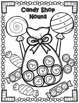 Nouns Review and Grammar Practice Color By Code